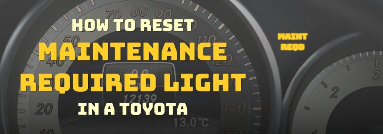 Here's where you can find out how to reset the maintenance required light in a Toyota, this is the right place