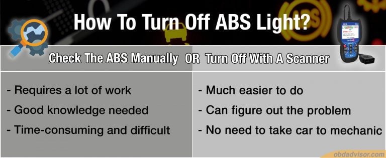 There are two ways to turn of ABS light: checking it manually or turn it off with a scanner. Which ways do you choose?