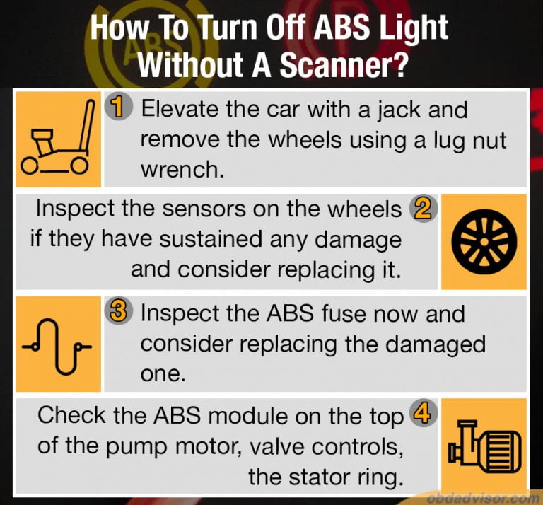 When the ABS light comes on, you can try to turn it off manually with these three steps.