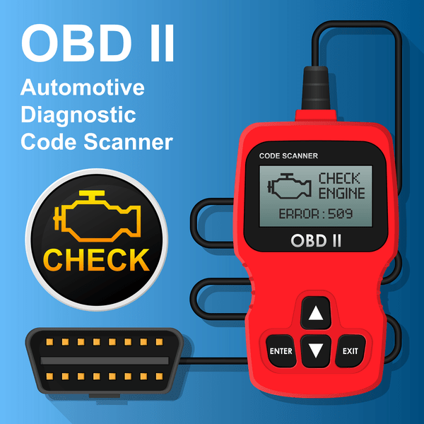The ODB2 scanner tool can be used to diagnose the P1000 code