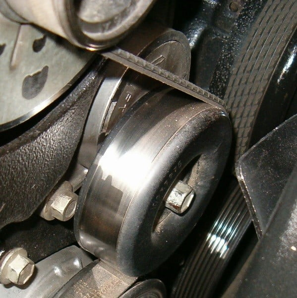 Damaged tensioner can be a cause of the P0016 code