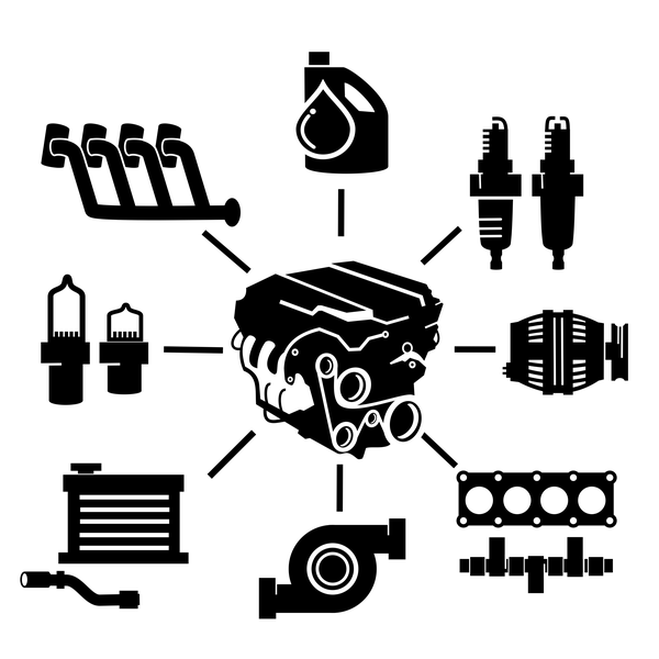 Main components of car engine