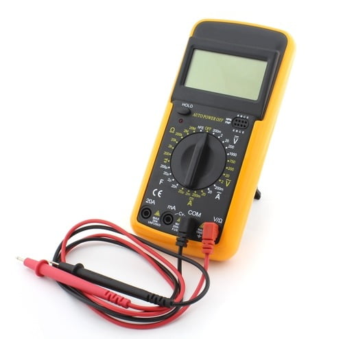 The P0740 code can be diagnosed by the digital multimeter.