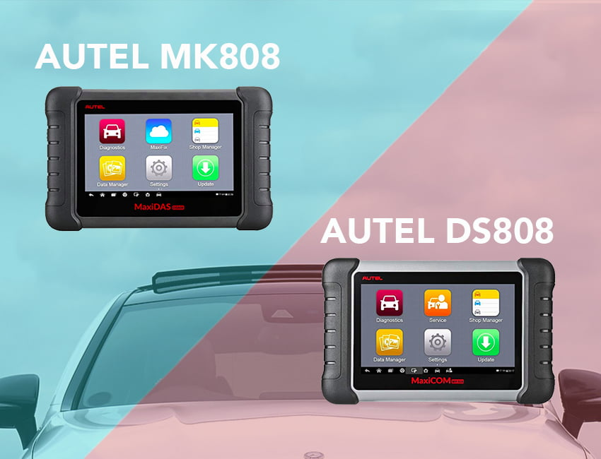 Read on to know the differences between the Autel MK808 and DS808