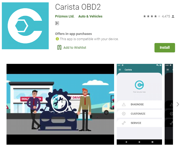 if you are finding the best OBD2 app, Carista is the good choice for you