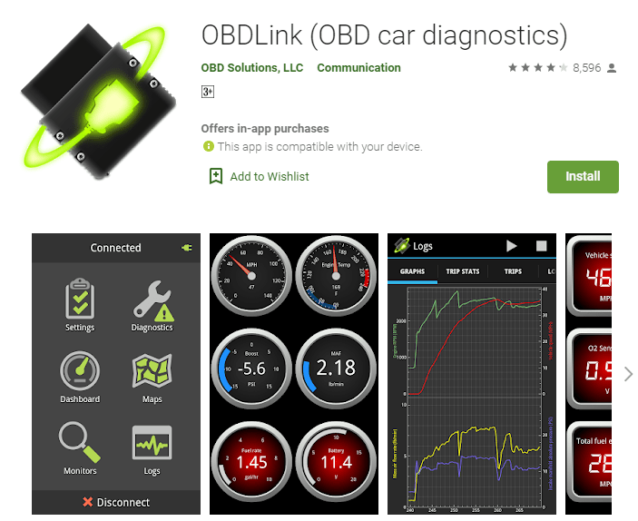 OBDLink is one of the good choices about best OBD2 app for Android and Windows