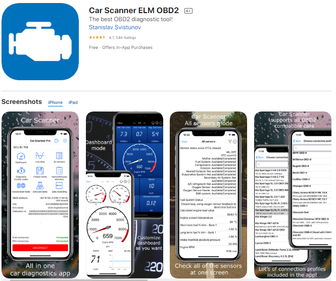 Car Scanner ELM OBD2 is one of the best OBD2 apps for user