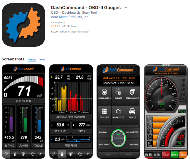 DashCommand is also one of the best OBD2 Bluetooth apps