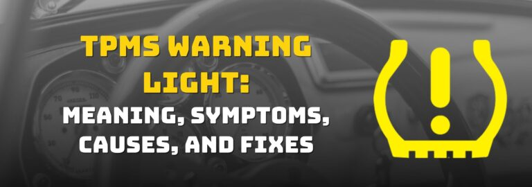 Here's where you can find out what to do when the TPMS warning light comes on