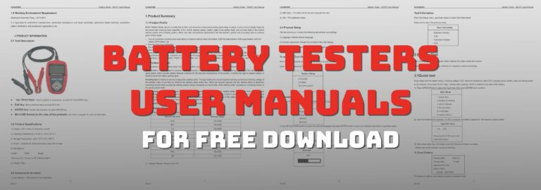 Here's where you can get battery testers user manuals for free download