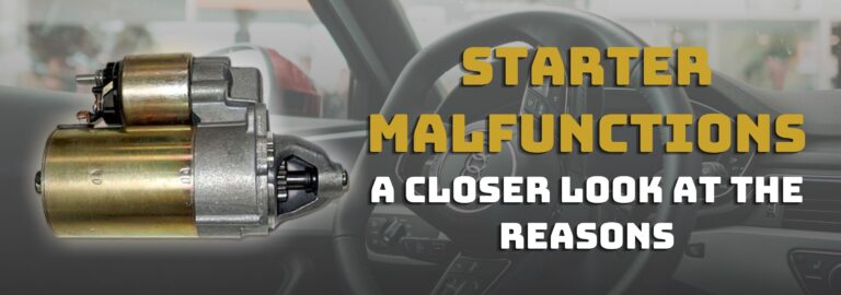 Here's where you can get a closer look at starter malfunctions