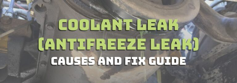 Here's where you can find out all about coolant leak (antifreeze leak)