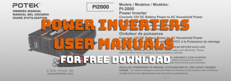 Here's where you can get free downloads of powers inverters user manuals