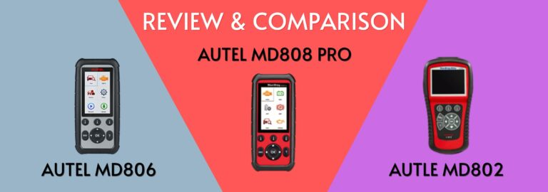 Here's where you can get the complete comparison between the Autel MD806, the MD808 Pro and the MD802