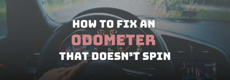 Here's where you can find out how to fix an odometer that doesn't spin