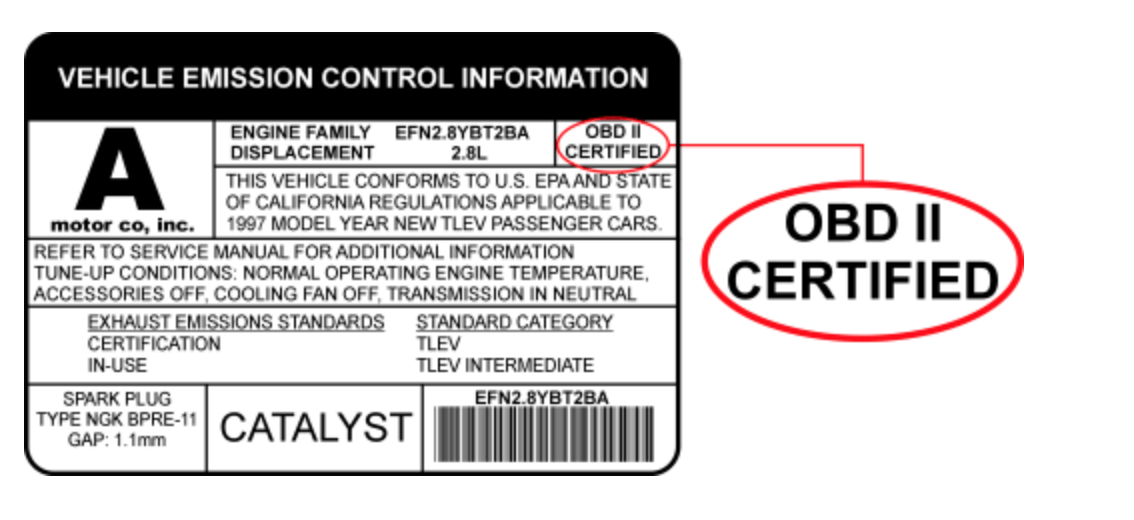 With the vehicle emission control information, car users can determine the car was obd1 or obd2