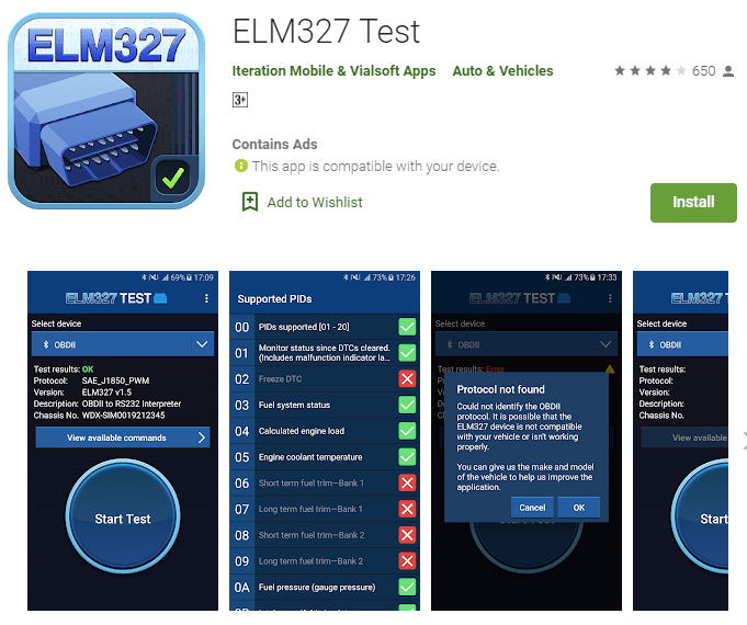 ELM327 Test is the right choice if you want to find the best obd2 app