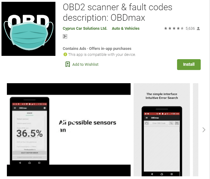 OBDmax OBD2 app is a great way to turn your smartphone into a diagnostic scanner.