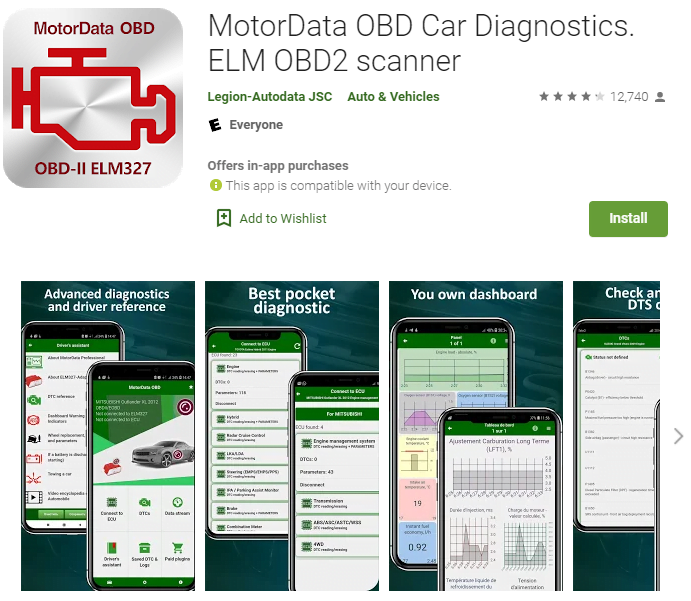 MotorData OBD2 app expands the functionality to non-OBD systems, making it the most useful option for advanced home mechanics.