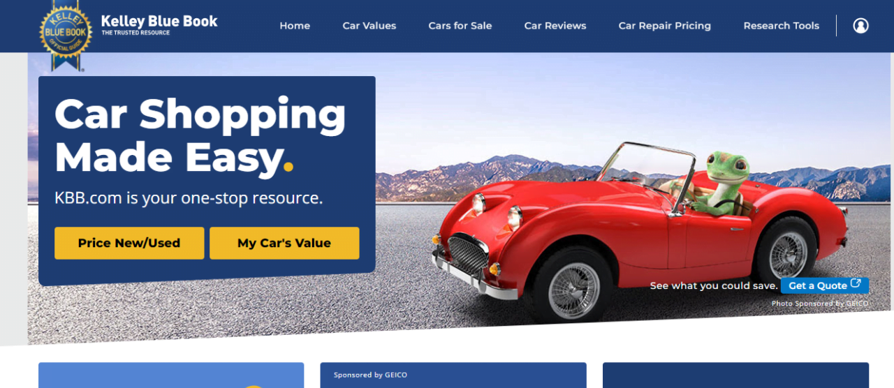 Kelley Blue Book is one of the best auto blogs