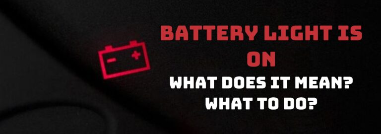 Here's where you can find out what to do when the battery light comes on