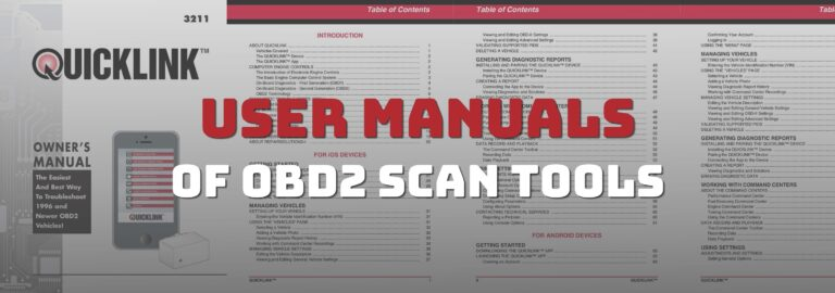 Here's where you can get the user manuals of popular OBD2 scanners