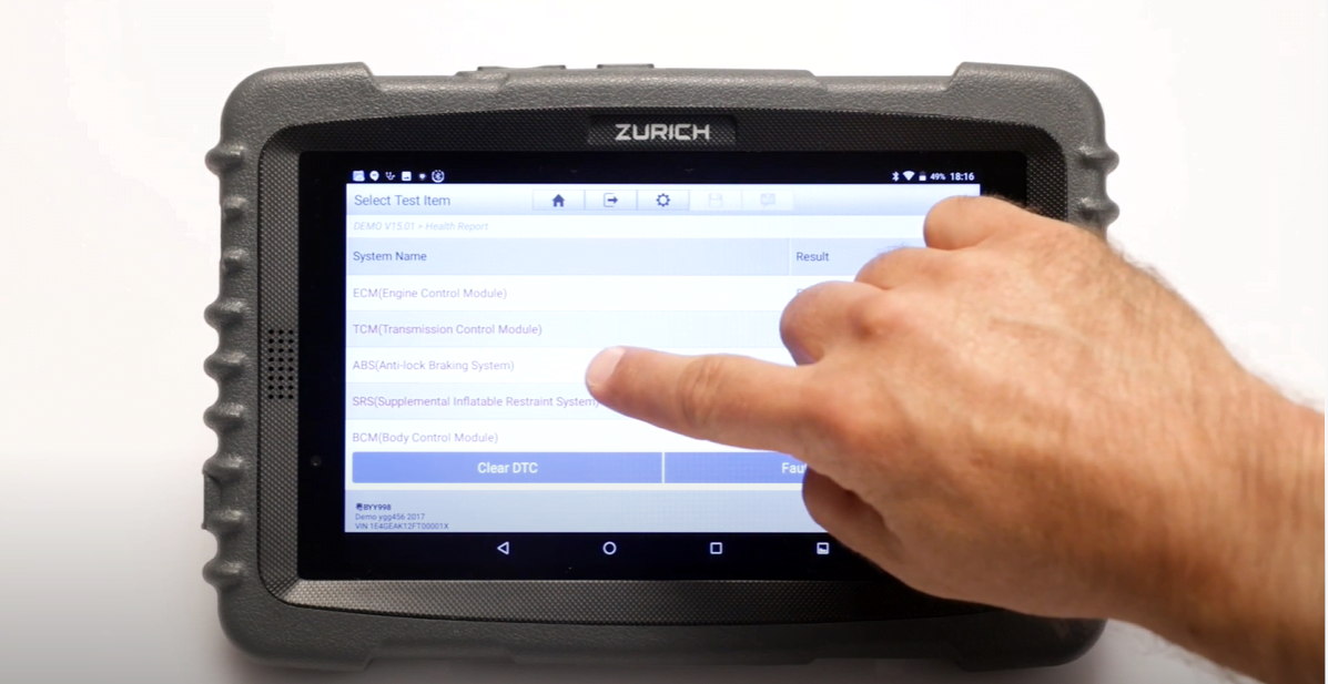 The Zurich ZR Pro provides full system health reporting