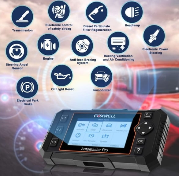 Foxwell NT624 Elite is one of the best professional automotive diagnostic scanners