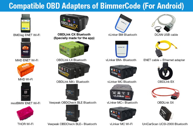 android adapters for bimmercode